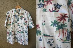 Original Island Sport Aloha Shirt Casual Button by GeekGirlRetro