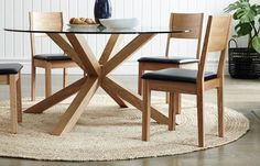 Suggested Dining Table with a change of glass to square..