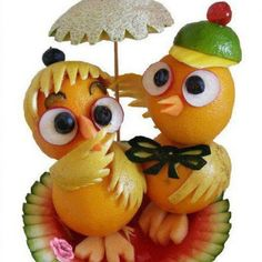 Food art amyjayne10 ~ Too cute to eat, great idea for a Hawaiian party centerpiece. Description from pinterest.com. I searched for this on bing.com/images