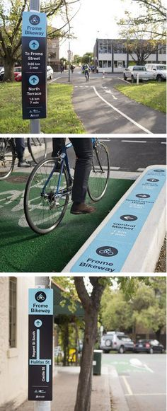 Bike lane signage, Frome St., Adelaide by Aspect Studios. Click image for link to full profile and visit the slowottawa.ca boards >> http://www.pinterest.com/slowottawa/