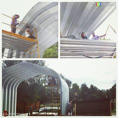 Almost done! The guys over at The Goodness Truck are almost finished with their SteelMaster barn!
