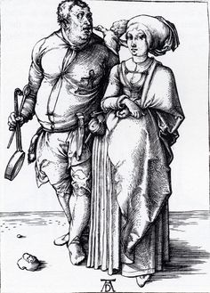 The Cook And His Wife, 1496, Albrecht Dürer