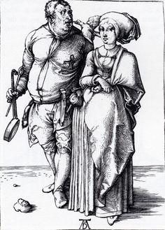 The Cook And His Wife, 1496, Albrecht Dürer