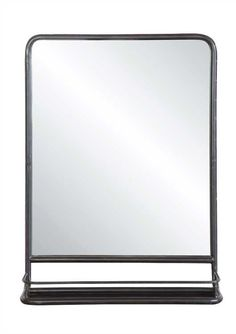 Square Mirror with Shelf – First of a Kind