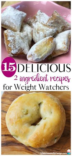 delicious 2 ingredient recipes for Weight Watchers won't have you missing the SmartPoints. There are 15 amazing Weight Watchers recipes with only 2 ingredients. See how to use Weight Watchers 2 Ingredient dough several ways plus lots more recipes. Weight Watcher Desserts, Weight Watchers Snacks, Weight Watchers Breakfast, Weight Watcher Dinners, Weight Watchers Smart Points, Weight Watchers Pancakes, Air Fryer Recipes Weight Watchers, Weight Watchers Success, Weight Watchers Freezer Meals