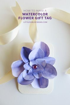 DIY Watercolor Flower Gift Tags-- Get the directions here!