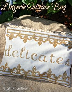DIY Lingerie Travel Bag made with Cricut Explore -- The Stuffed Suitcase. #DesignSpaceStar Round 2