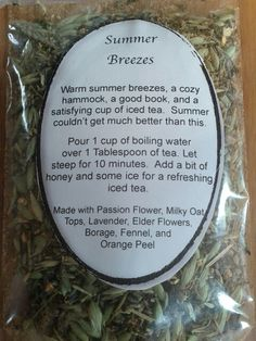 Giveaway Monday - Summer Breezes Tea Blend from Ninja Chickens