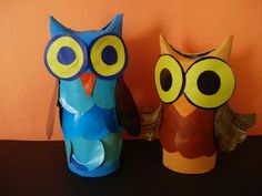 a faithful attempt: Owls from Cardboard Tubes Art For Kids, Crafts For Kids, Arts And Crafts, Children Crafts, Paper Towel Roll Crafts, Paper Crafts, Teacher Halloween Costumes, Owl Classroom, Art Web