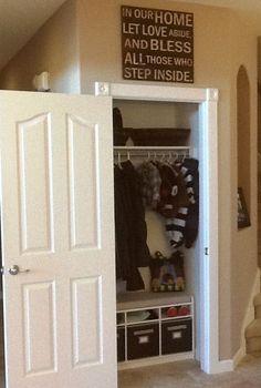 Hall Closet Organizational Makeover