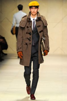 men's Burberry fall fashion style tips, military trend Boho Chic stylings
