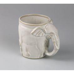 Denise Coffee Mug (Set of World Menagerie Colour: White World Menagerie Elefant - this product is a cream mug is x Colour: White Stoneware Mugs, Ceramic Cups, Ceramic Pottery, Porcelain Ceramics, Cappuccino Tassen, Cappuccino Cups, Coffee Mug Display, Coffee Mug Sets, Vejle