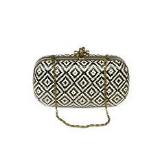 Little Black Bag | Straw Pattern Minaudiere by Miztique :)
