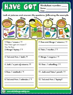 HAVE GOT - WORKSHEET 10  http://eslchallenge.weebly.com/packs.html