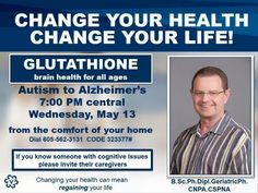 Discussion of benefits of Glutathione for Alzheimer's and Autism. Glutathione is now available in Visi's Vara product! Brain Health, Alzheimers, Caregiver, Thyroid, You Changed, Autism, Cancer, Healing, Coding