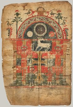Double-Sided Gospel Leaf first half 14th century Made in Tigray, Ethiopia Tempera on parchment