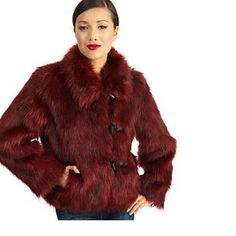 "Selling this ""Luxe Rachel Zoe Faux Fur Toggle Coat w/Wing Collar"" in my Poshmark closet! My username is: theyteensandi. #shopmycloset #poshmark #fashion #shopping #style #forsale #Rachel Zoe #Jackets & Blazers"