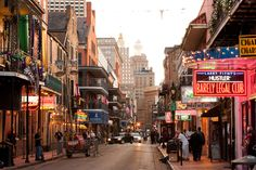 Bourbon Street, New Orleans (According to Terry Pratchett the best place to get a frozen daiquiri)