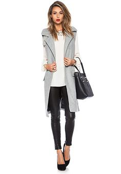 Fall Fashion | Winter Fashion  Sleeveless Coat