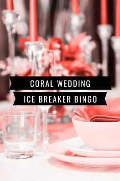 Is there a wedding with coral as the color coming up? Here's a printable ice breaker bingo game that will fit your color scheme. Great for a bridal shower, wedding party and bachelorette party. Bingo Cards, Printable Cards, Party Printables, Ice Breaker Bingo, Human Bingo, Wedding Party Games, Ice Breakers, Secret Santa Gifts, Wedding Signage