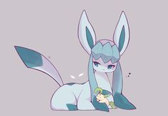 Extremely Cute Glaceon and Little Leafeon