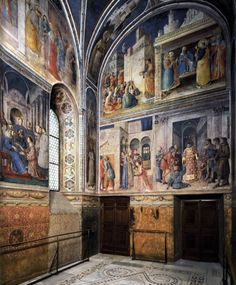 View of the chapel by ANGELICO, Fra