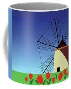 Holland Coffee Mug #MarinaUsmanskayaFineArtDigitalArt #ArtForHome #FineArtPrints #Holland #Tulip #Mill