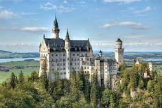"Neuschwanstein Castle in Bavaria.  Known as the ""fairy tale castle."""
