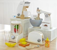 Wooden Appliances | Pottery Barn Kids I can make these too, just need one more piece of equipment