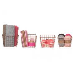 pt, Linea Mand Set van 4 - Koper - pt, (present time) Storage Boxes, Magazine Rack, Presents, Van, Furniture, Home Decor, Bronze, Kitchen, Kitchen Organization