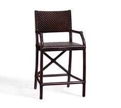 Whitman Leather Barstool | Pottery Barn