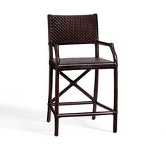 Whitman Leather Barstool | Pottery Barn