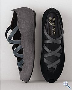 Donald Pliner Strappy Flat: Donald does shoes oh so very well. Italian suede with a scalloped vamp. On sale $198.