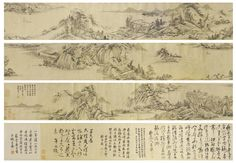 LANDSCAPE INK ON PAPER, HANDSCROLL, BEARING THE SIGNATURE YIFENG DAOREN GONGWANG, INSCRIBED AND WITH SIXTEEN SEALS FIVE COLOPHONS BEARING SIGNATURES OF WU ZHEN, YUAN MEI, ZHANG YU, LIANG XIAN AND TANG YIN, WITH TEN SEALS.  Estimate  2,192 - 3,289 USD.   LOT SOLD. 27,405 USD;  16/04/15 ||| sotheby's pf1517lot8pzkven
