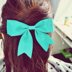 Tiffany blue hair bow