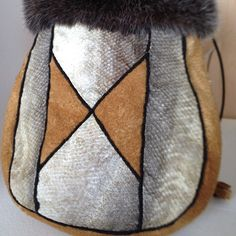 Moose and Salmon skin bag #Alaska