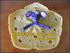 Twitch Cheese Mouse Lovey ~ AU$4.00 pattern ᛡ