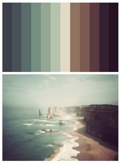 ooh. this would be a super fun project. color-match spectrum of a favorite photo. even more so if the spectrum was also collaged from photos, not just color matched on illustrator.: