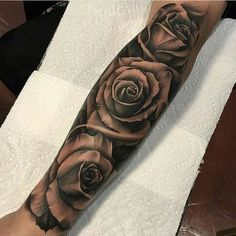Tattoo work by: Rose Tattoos For Men, Black Tattoos, Tattoos For Guys, Tattoos For Women, Forearm Tattoos, Body Art Tattoos, Hand Tattoos, Cool Tattoos, Flower Tattoos