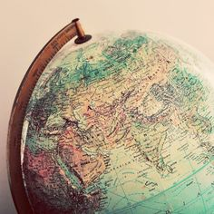 #globe #travel I was thinking the other day I would like to get one of these for the kids and put pins in it everywhere we go over their lifetimes.