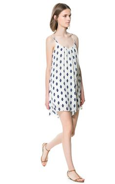Image 2 of PRINTED STRAPPY DRESS from Zara