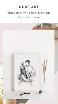 This collection of black and white line art features the body of woman in an elegant and stylish way. An evergreen series for your home decor, with great sensibility and good taste. #artisticprints #blackandwhite #wallartdecor Black And White Lines, Boho Bedroom Decor, Feminist Art, Loving Your Body, Watercolor And Ink, Evergreen, Line Art, Wall Art Decor, Gallery Wall
