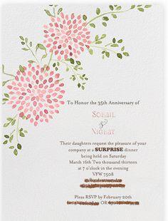 parents anniversary party invitation - invite gray coral theme