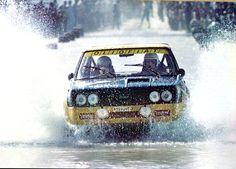 Fulvio Bacchelli (Fiat 131 Abarth) - Rallye du Maroc - 1976 - sport-auto août 1976.