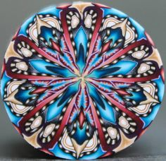 Círculo de la arcilla del polímero caleidoscopio de por ikandiclay