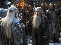 Thranduil and Gandalf. The Battle of the Five Armies.