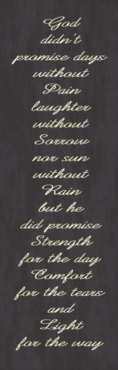 Inspirational Quote - God didn't Promise.... Etsy.