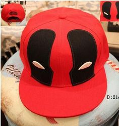 23f5e4c43c3ad Hot Recommended Movies Surrounding Deadpool Youth Casual Hip-Hop Caps Red  Fashion Popular Baseball Hats