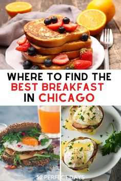 This is the ultimate list of the best breakfast spots in Chicago. Where to find the best breakfast in the windy city. Our guide to the best places for a morning meal in Chicago. If you plan to visit Chicago this list is all you need for breakfast restaurants. | Chicago breakfast places | cafes in Chicago | restaurants in Chicago | breakfast in Chicago | Brunch in Chicago | things to do in Chicago | eat in Chicago | foods to eat in Chicago Breakfast Restaurants, Chicago Restaurants, California Food, Best Street Food, Morning Food, Best Breakfast, Different Recipes, International Recipes, Foodie Travel