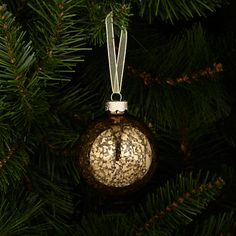 Mercurised Glass Bauble, Gold - John Lewis.  I like the silver ones too, don't look great in the online pics but I liked them in the shop!